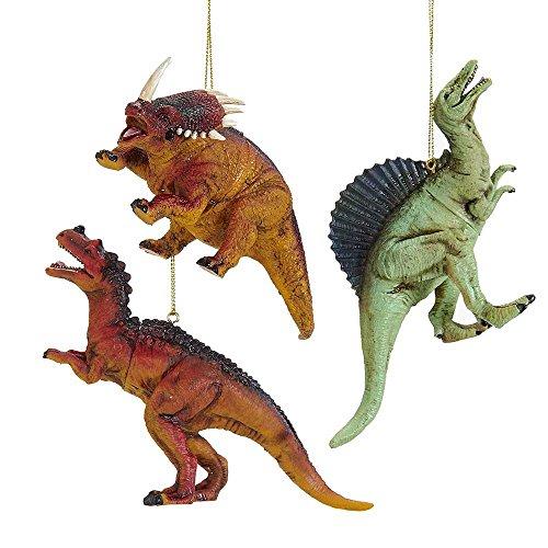Kurt Adler 4-Inch Plastic Dinosaur Ornament Set of 3