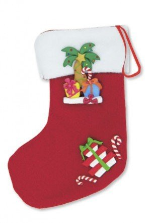 Hawaiian Island Holiday Mini Fimo Stocking Ornament