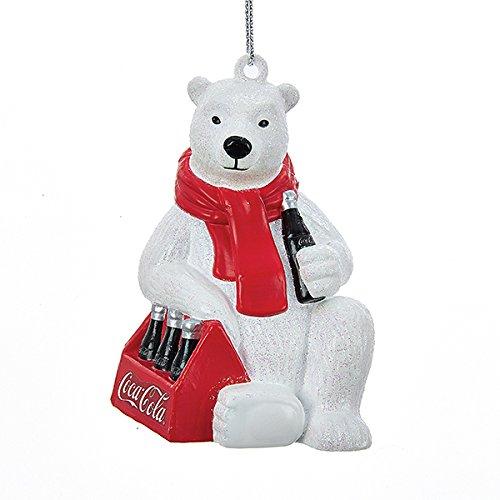 Kurt Adler Coca-Cola Polar Bear with 6 Pack of Bottles Ornament