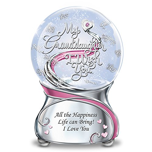 Musical Glitter Globe For Granddaughter With Swarovski Crystal And Poem Card by The Bradford Exchange
