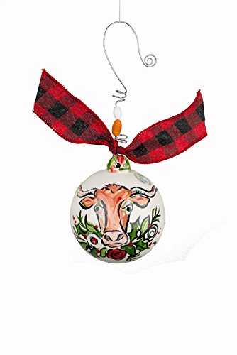 Glory Haus Longhorn Ball Ornament, Multicolor