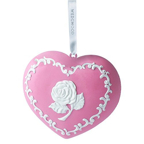 Wedgwood Breast Cancer Org Heart Christmas Ornament, Pink by Wedgwood