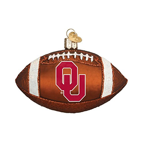 Old World Christmas University of Oklahoma Football Glass Blown Ornament