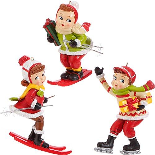 RAZ Imports 4″ Skiing Kids (Set of Three)