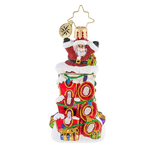 Christopher Radko Ho Ho Ho Santa Little Gem Christmas Ornament