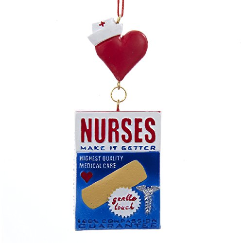 "Kurt Adler Bandage Box ""Nurses"" Hanging Christmas Ornament"