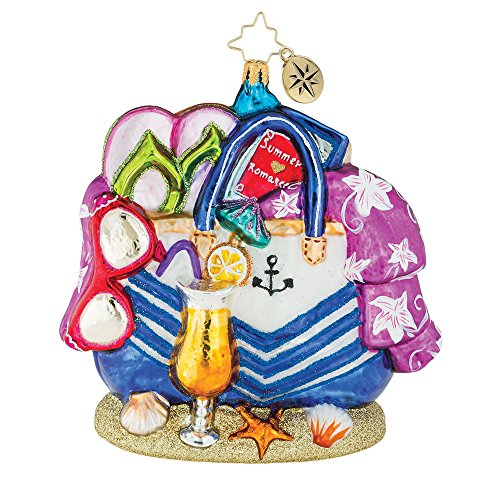 Christopher Radko Beach Bag Bounty Christmas Ornament