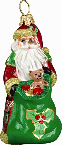 Joy to the World – Glitterazzi Mini 12 Days of Christmas – Eleven Pipers Piping – Blown Glass Ornament