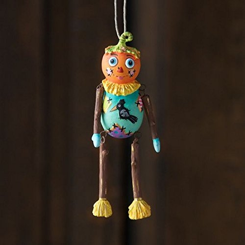 Glitterville Halloween Baby Squash Jack O Lantern Ornament Sparkling Decor New