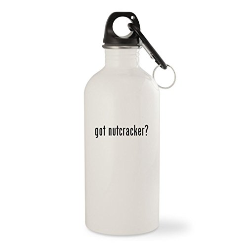 got nutcracker? – White 20oz Stainless Steel Water Bottle with Carabiner