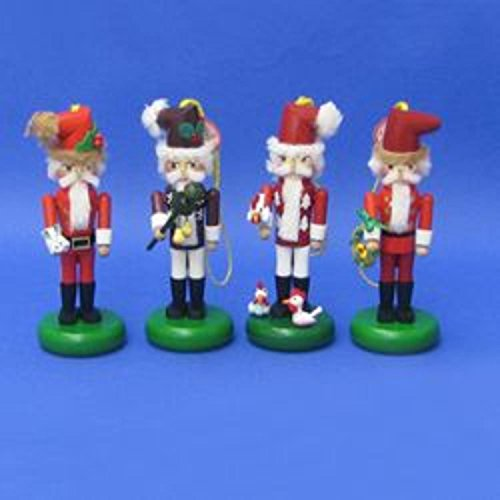 KSA Pack of 4 Authentic Steinbach Twelve Days of Christmas Collectible Nutcracker Ornaments #ES5000