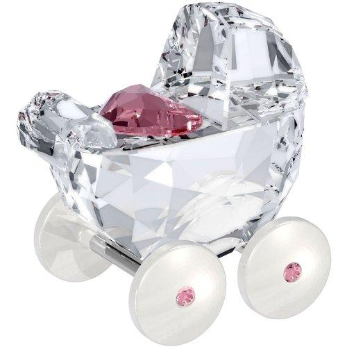 Swarovski Crystal #5003407 Baby Carriage, Light Pink