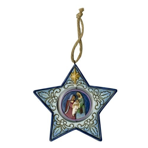Department56 Enesco Jim Shore Heartwood Creek 6001521 Star Shaped Ornament W/Nativity Scene