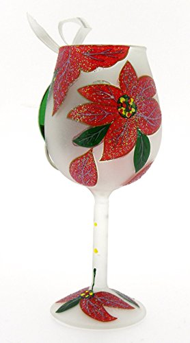 Lolita Poinsettia Mini Wine Ornament Retired – Beverage Vino Bar ORN5-5575M