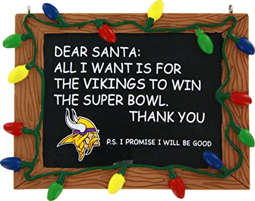 FOCO Minnesota Vikings Resin Chalkboard Sign Ornament