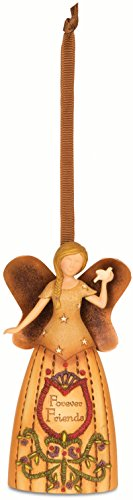 Pavilion Gift Company Country Soul 29016 Angel Figurine, Forever Friends, 4-1/2-Inch
