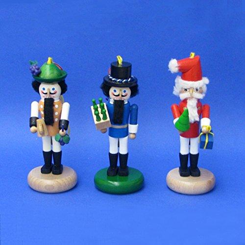 KSA Set of 4 5.5″ Steinbach German Festival Santa Nutcracker Christmas Ornaments #ES4000