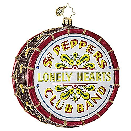 Christopher Radko Beatles Large Sgt. Pepper's Drum Christmas Ornament