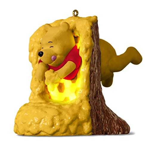 Hallmark Keepsake Christmas Ornament 2018 Year Dated, Disney Winnie the Pooh Rumbly in My Tumbly With Music and Light