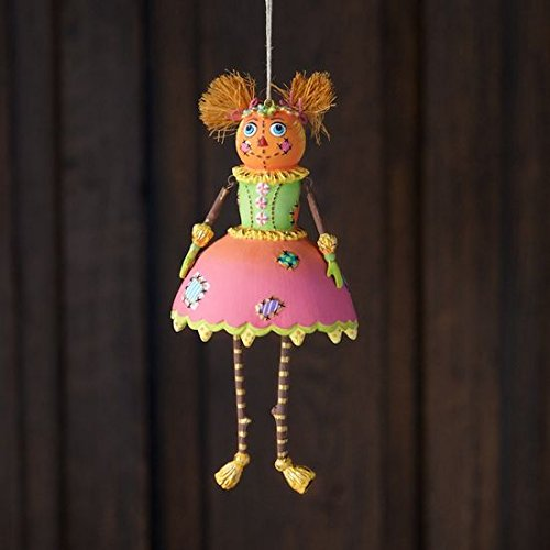 Glitterville Halloween Mrs Patches Scarecrow Ornament Sparkling Decor New
