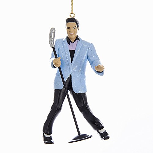 Elvis Presley Hound Dog Elvis with Mic 4 1/4-Inch Ornament
