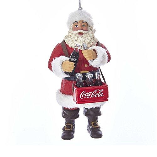 Kurt Adler Coca-Cola Santa Opening Coke Bottle Ornament