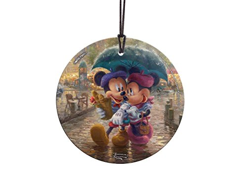 Trend Setters Disney – Mickey and Minnie Mouse – Paris France – Thomas Kinkade – Light Catcher Suncatcher Hanging Glass Collectible – For Gifting and Collecting – By Ltd.