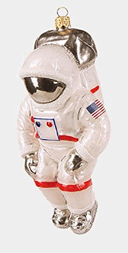 USA Space Astronaut Polish Glass Christmas Ornament Decoration Made in Poland