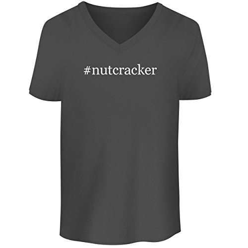 BH Cool Designs #Nutcracker – Men's V Neck Graphic Tee, Grey, XX-Large