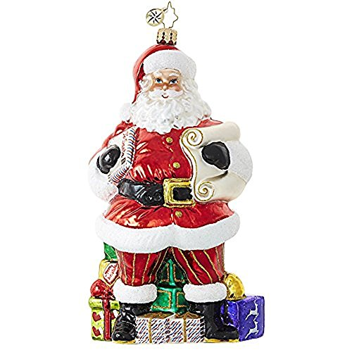 Christopher Radko Checking It Twice Santa Designer's Choice Christmas Ornament