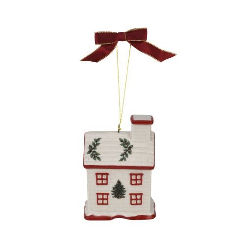Spode Christmas Tree Bless This Home Ornament