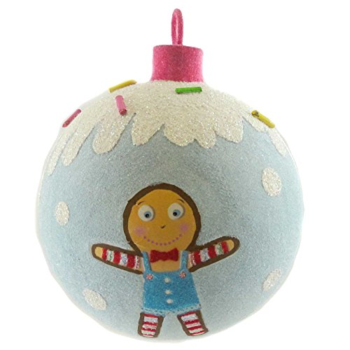 Holiday Ornament SWEET BALL Mixed Media Christmas GJ0090 GINGERBREAD