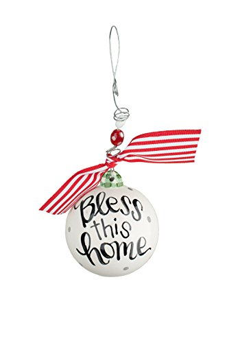 Glory Haus Bless This Home Ball Ornament, 4″ x 4″, Multicolor