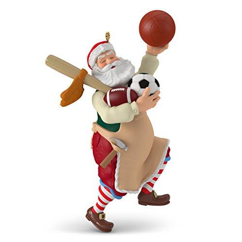 Hallmark Keepsake Christmas Ornament 2018 Year Dated, Toymaker Santa Sports Equipment