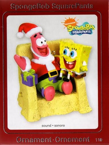 Carlton 2009 Heirloom SpongeBob Patrick on Chair Ornament Sounds