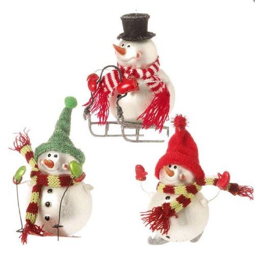 Raz Imports 5.5″ Snowmen Ornaments