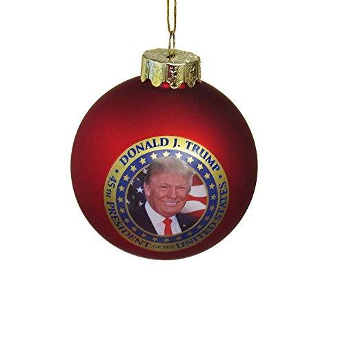 Kurt Adler President Donald Trump Glass Ball Ornament Standard
