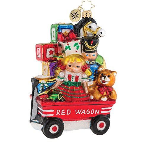 Christopher Radko My Little Red Wagon Christmas Ornament