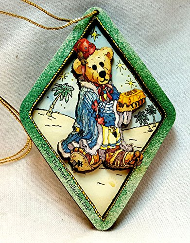 Boyd's Bear gift tag Gold King Christmas Bearing Gifts Ornament 3D Layered MINT