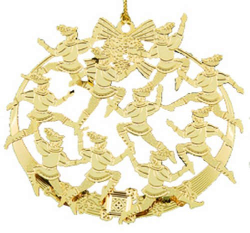 Baldwin Ten Lords-A-Leaping Ornament