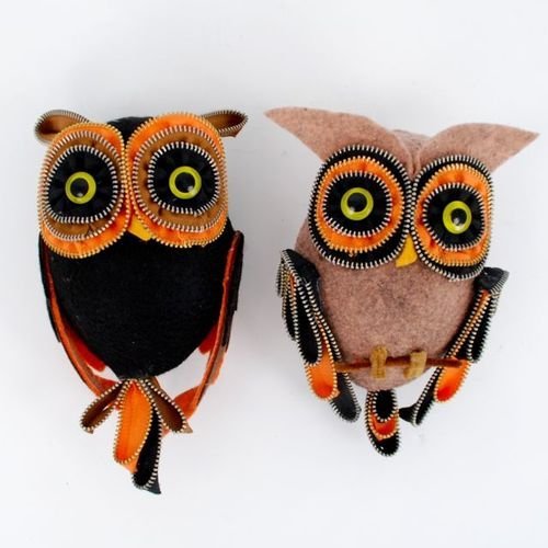 One Hundred 80 Degrees Zipper Owl Bird Ornaments/Figures