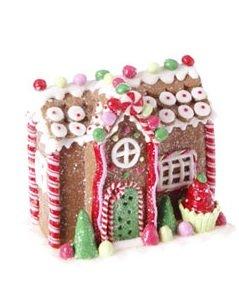 RAZ Imports – Decorative Gingerbread House Ornament (B)