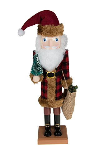 """Traditional Wooden Old World Santa Claus Christmas Nutcracker by Clever Creations 