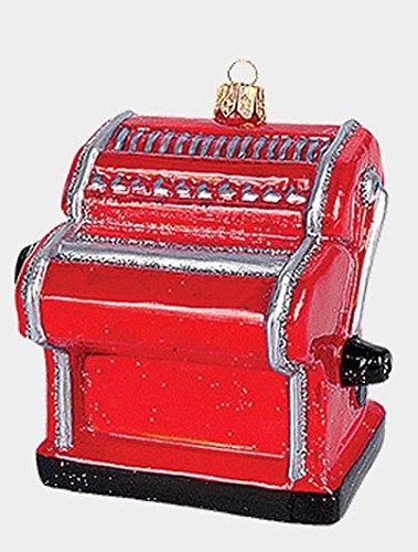 Pinnacle Peak Trading Company Pasta Making Machine Polish Glass Christmas Ornament Italian Food Decoration