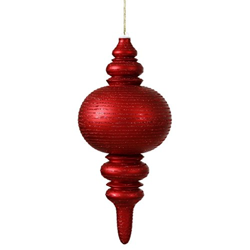 Vickerman 13 in. Matte and Glitter Finial Ornament
