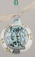 Glory Haus Light of the World Ball Ornament, 4 x 4″, Multicolor