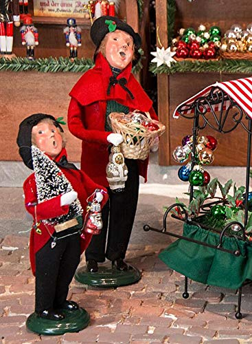 Byers Choice Father & Son Selling Christmas Ornaments – 2-Piece Set
