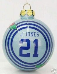 Julius Jones Dallas Cowboys Glass Ball Christmas Ornament