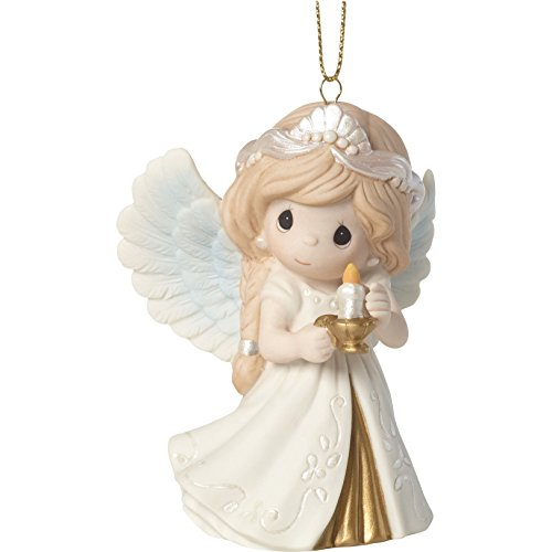 Precious Moments He is The Light Angel Ornament, Multicolor