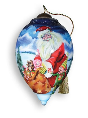 Ne'Qwa Art Santa's Helper Ornament By Artist Jane Hankins 794